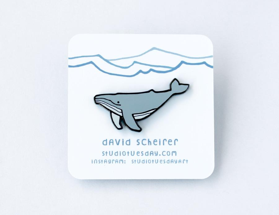 Humpback Whale Pin - Hard Enamel Pin