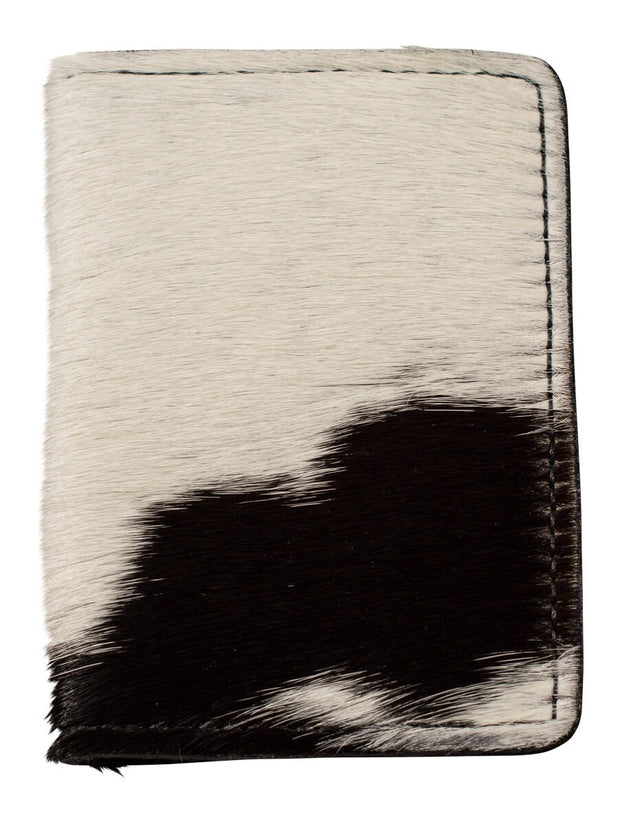 black and white calf hair wallet