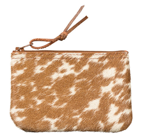 cowhair coin purse