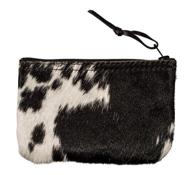 calf hair coin purse