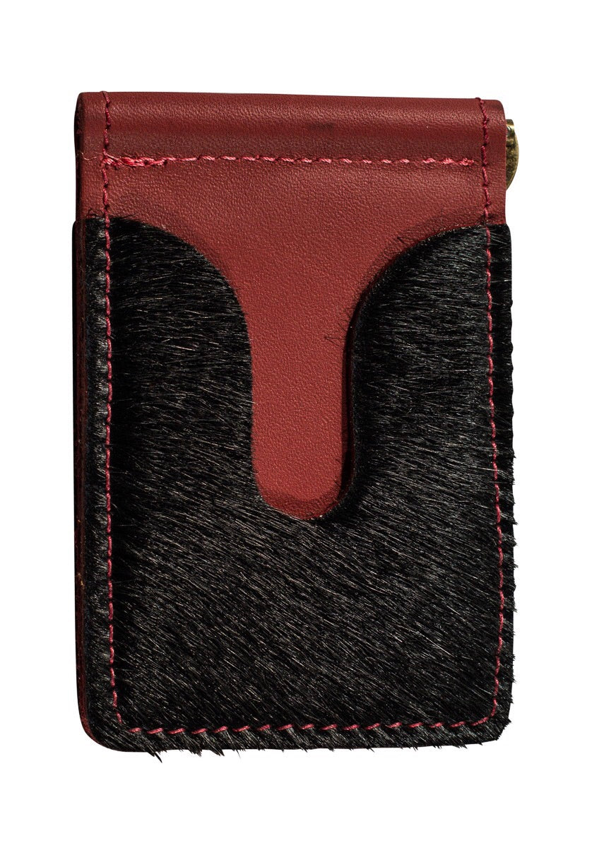 calf hair money clip