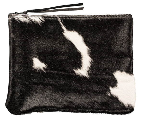 cowhide oversize clutch