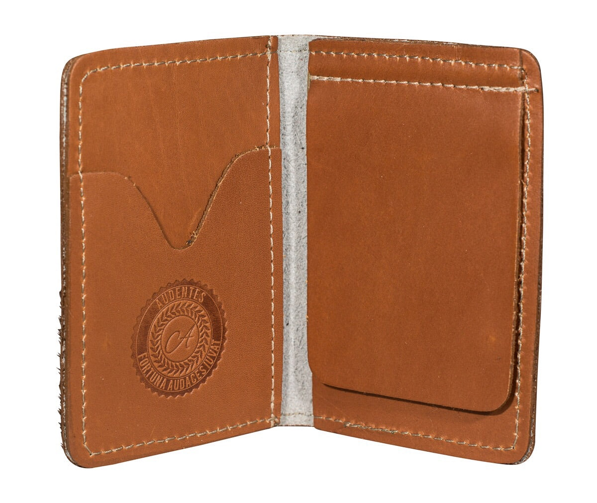 Speckled and tan moneyclip wallet