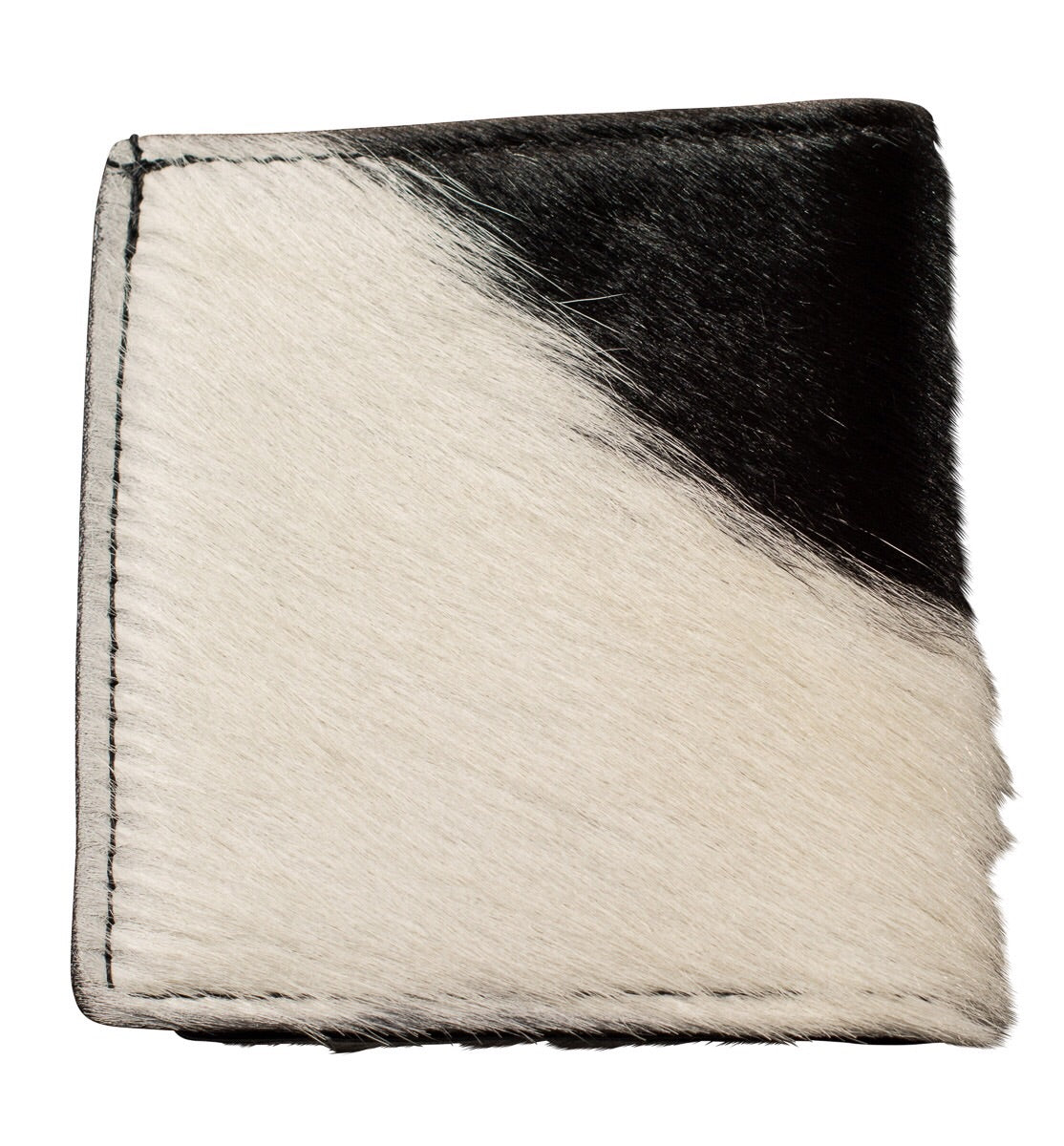 cow hair wallet