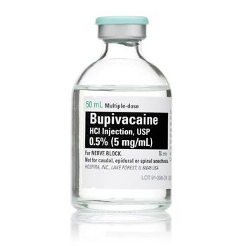 0.5 % Bupivacaine HCL (250mg/50ml) Single, 50 ml, multiple-dose glass bottle