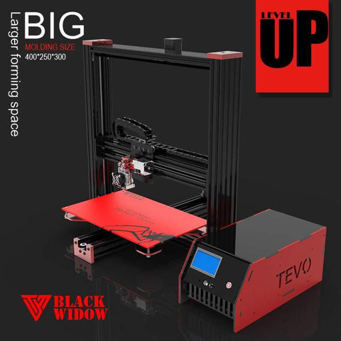 Tevo Black Widow 3D printer, Brilliant Designs in 3D