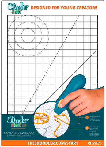 3Doodler Start Doodle Pad, Brilliant Designs in 3D