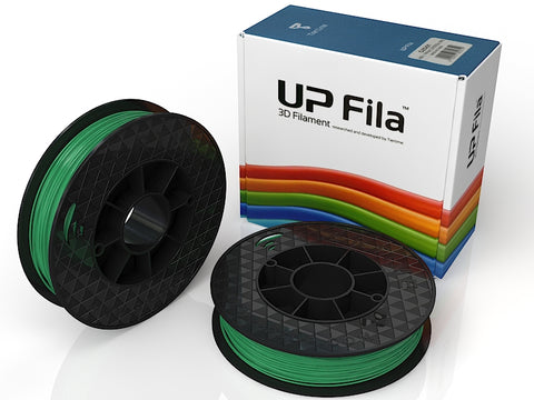 Brilliant Designs in 3D:UP Green ABS Filament 1.75mm