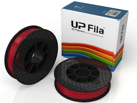 UP Red ABS+ Filament 1.75mm, Brilliant Designs in 3D