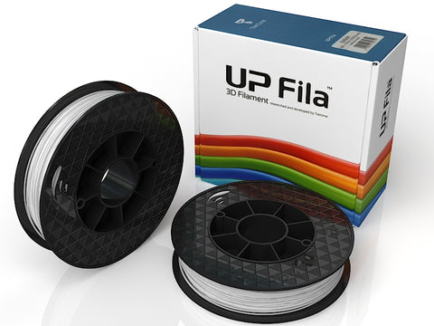 UP White ABS+ Filament 1.75mm, Brilliant Designs in 3D