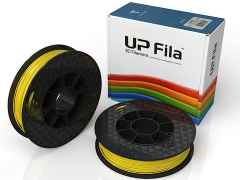 UP Yellow ABS+ Filament 1.75mm, Brilliant Designs in 3D