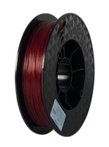 Brilliant Designs in 3D:UP Burgundy Red PLA Filament 1.75mm