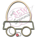 Egg Wagon ONE Applique Design