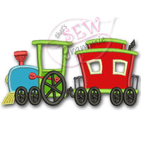 Choo Choo 2 Car Train Applique Design