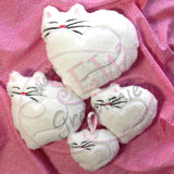 Kitty Heart Applique & Cuddler Design SET