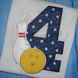 Bowling Number Applique Full Set 3-9