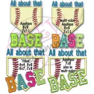 All About Base BLOCK Lettering Applique Set