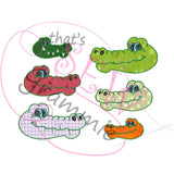In the Hoop Alligator Felties Embroidery Design