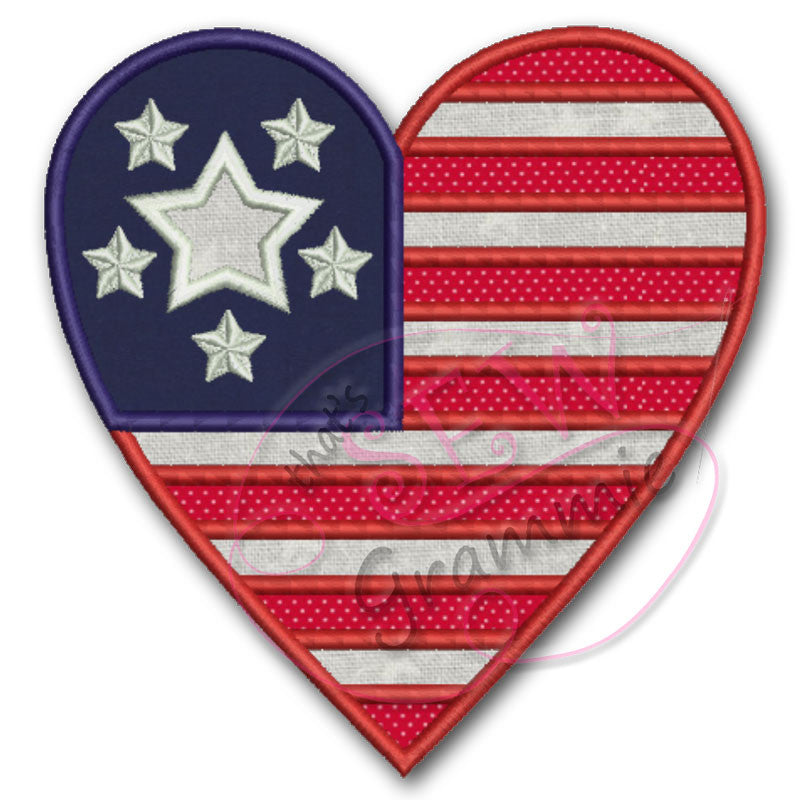 American Love TWO Applique Design