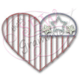 American Love Applique Design