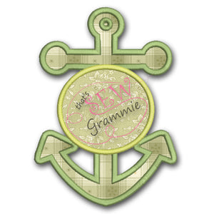 Anchor Font Frame Applique Design