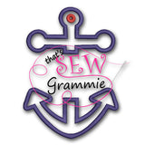 Split Anchor TWO Applique Design