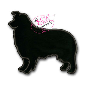 Australian Shepherd Silhouette Applique Design