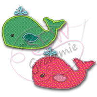 Baby Whale Applique Design