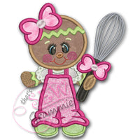 Baking Ginger w Whisk Applique Design