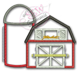 Barn with Silo Applique Design