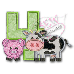 Barnyard Birthday FOUR Applique Design