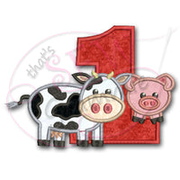 Barnyard Birthday ONE Applique Design