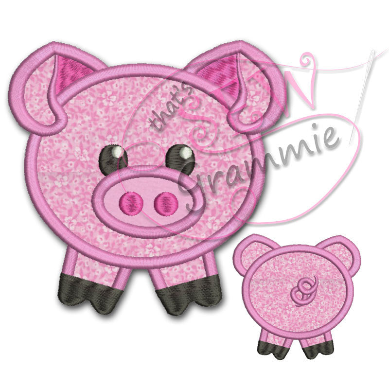 Barnyard Buddy PIG Applique Design