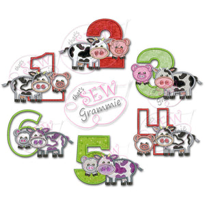 Barnyard Birthday Applique FULL SET 1-6