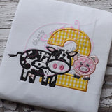 Barnyard Birthday TWO Applique Design