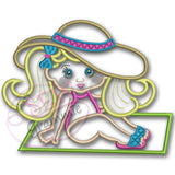 Beach Baby Luna Applique Design