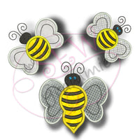 Bumble Bee Applique Design