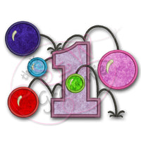 Bouncy Balls Number ONE Applique Design