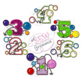 Bouncy Balls Applique Complete Set 1-6