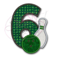 Bowling #6 Applique Design