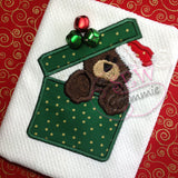 Gift Boxed Bear Applique Design