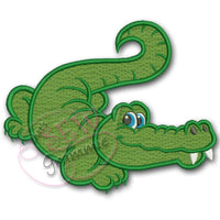 Alligator Gator Boy Bucky Applique Design