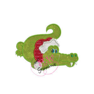 "Santa Gator Applique Designs ""Bucky"""