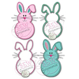 Bunny Front & Back Applique Design