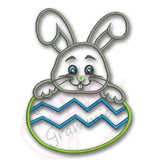 Bunny Boy w Easter Egg Applique Design