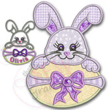 Bunny Girl w Easter Egg Applique Design