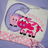 Barnyard Birthday SIX Applique Design