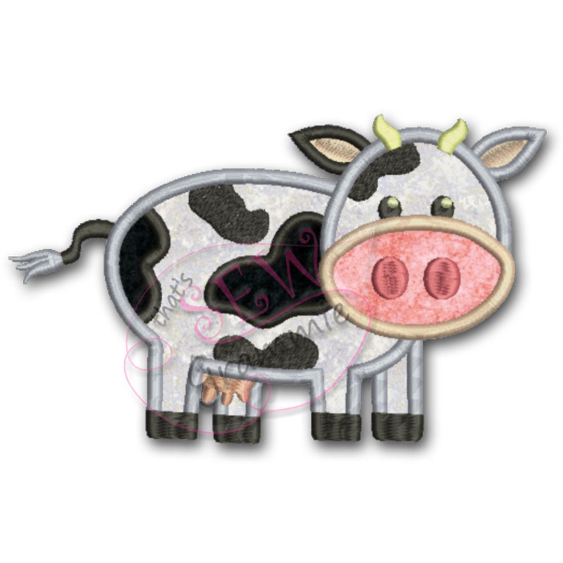 Barnyard Buddy COW Applique Design