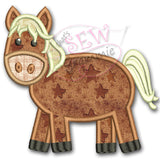 Barnyard Buddy HORSE Applique Design