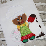 Baking Ginger Boy w Chocolate Applique
